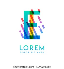 IE logo with the theme of galaxy speed and style that is suitable for creative and business industries. EI Letter Logo design for all webpage media and mobile, simple, modern and colorful