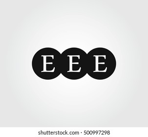 Logo three letters E. Logo letters triplets. EEE. EEE Initials