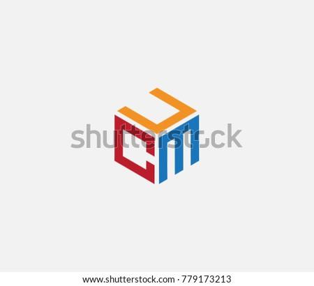 Logo Three Letters Ucm Flat Logo Stock Vector Royalty Free