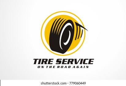 Logo for tire service. Break logotype sign. Automotive logo icon. Engine logo symbol. Transportation sign objects. Car service symbol vector.