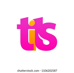Logo of Tits - Pink Emblem for Store or Web Site with Adult Content. Vector illustration isolated on white, EPS 10.