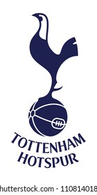 Logo of Tottenham Hotspur FC On White Background  Emblem EPS10