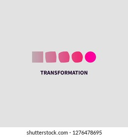 Logo transform, icon change, icon growth, symbol training, evolution; business development; logo education, brand; business coach; evolution sign, personal life coaching