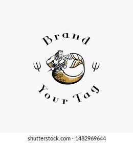 logo triton god for brand