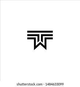 Logo TW W T monogram letter logo design