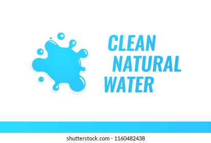 Logo for Unbottled Dispensing Clean Natural Water. Vector Illustration in Colorful Style isolated on White Background.