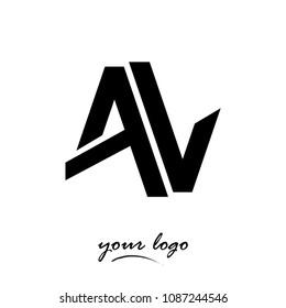 Logo VA vector illustration