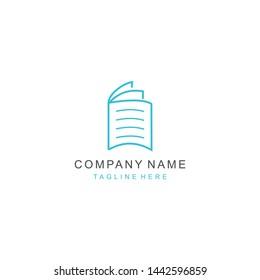 logo vector book education line