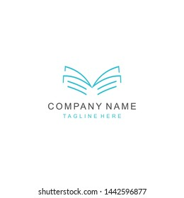 logo vector book education line