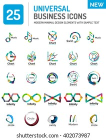 Logo vector collection, abstract geometric business icon set