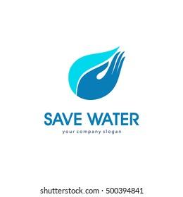 Logo vector concept save water