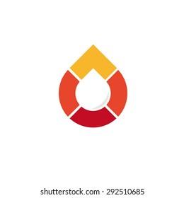 Logo. Vector. Droplet