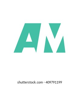 AM Logo | Vector Graphic Branding Letter Element | jpg, eps, path, web, app, art, ai | White Background