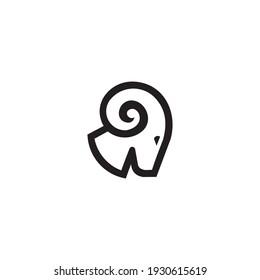 logo vector head goat line simple design