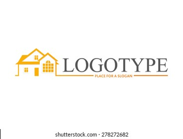 Logo. Vector. House. Real estate logotype. Building illustration.