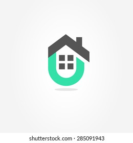 Logo. Vector. House. Real estate icon. Building company business.