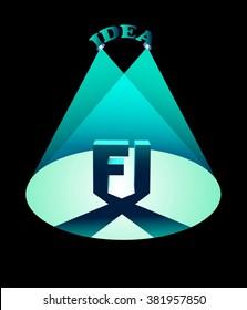 Logo Vector illustration Font Concepts Background