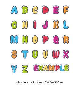 logo vector initials, funny, for children