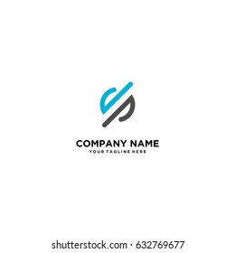 logo vector letter DP