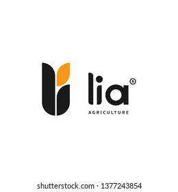 Logo Vector - Li for Lia - Wheat or rice