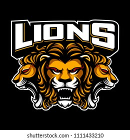 Logo vector lion mascot