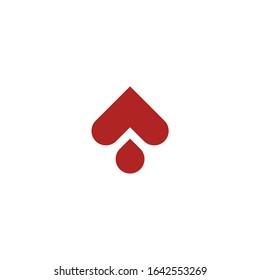 Logo vector. Simple Spades. monoline