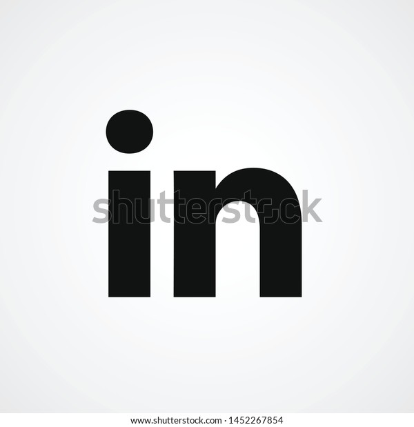 logo vector template sign symbol icon LinkedIn  American business and employment-oriented service that operates via websites and mobile apps