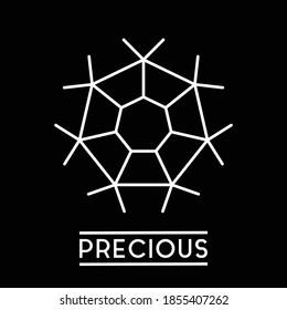 Logo vector Logo vector that illustrated of glaring hexagonal diamond