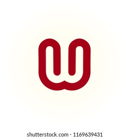 logo W vector. icon W abstract. alphabet symbol illustrator EPS 10