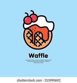 Logo Waffle Sweet