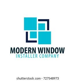 Logo Windows store. Installer company. Vector illustration