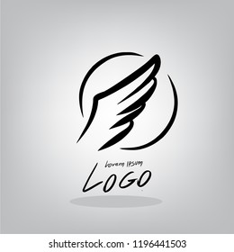 Logo Wing  Draw by hand