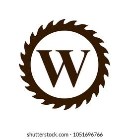 logo of woodwork company vector logo.