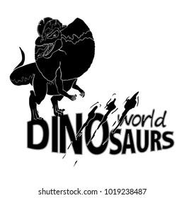 Logo World of Dinosaurs. Vector illustration.