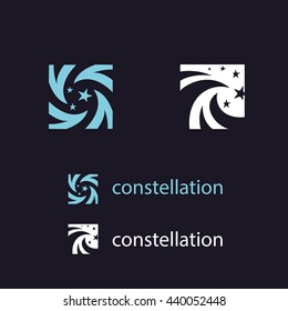 Logo of zodiac constellations. Style vector illustration.
