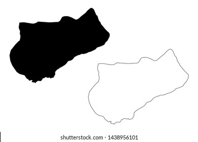 Logone Occidental Region (Regions of Chad, Republic of Chad) map vector illustration, scribble sketch Logone Occidental map
