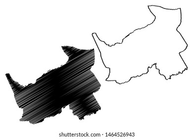 Logone Oriental Region (Regions of Chad, Republic of Chad) map vector illustration, scribble sketch Logone Oriental map