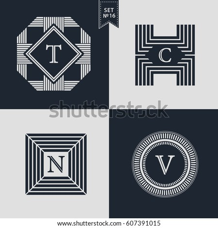 logos design templates set logotypes elements stock vector royalty