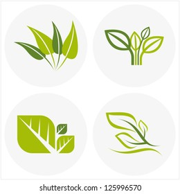 logos of green leaf
