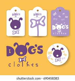 Logos and labels for brand clothes for dogs