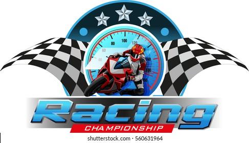 Logos or symbols motor racing championship events.