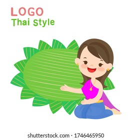 LogoThai Style and Thai Costume Vector