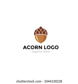 Logotype acorn, logo vector for shop, sale, eco company, organic