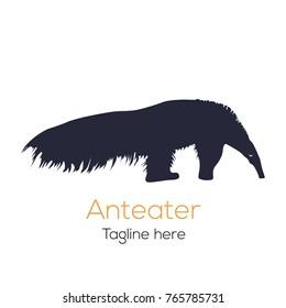 Logotype Anteater, logo vector silhouette animal wild