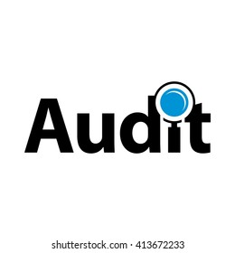 logotype of audit. logo vector.