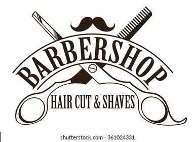 logotype for barbershop