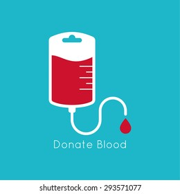 logotype blood donation, help the sick and needy.