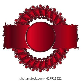 Logotype for business, red rose red logo sample