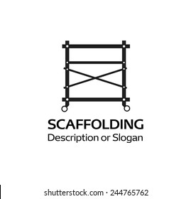 Logotype For The Company Selling Scaffolding, Vector Illustration