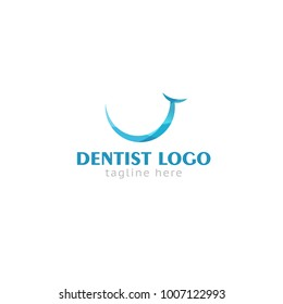 Logotype dentist, logo vector for shop, store, medical center, examination, prosthetics, treatment, beautiful teeth without pain